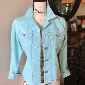 CAbi Denim Jacket turquoise
